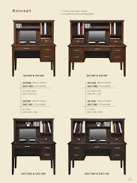 Computer Desk With Hutch Cherry by Low Prices U2022 Winners Only Koncept Office Furniture U2022 Al U0027s Woodcraft