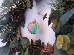 make these easy painted glass globe ornaments with the