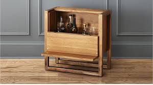Wine Bar Table Elixir Mini Bar Table In Bar Carts Dining Storage Reviews Cb2