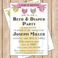 best diaper party online invitations features party dress beer and