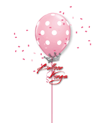 polka dot balloons 11in pink polka dots balloon