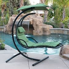 Outdoor Hanging Lounge Chair Hanging Chaise Lounger Chair Arc Stand Air Porch Swing Hammock