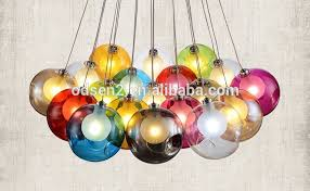 coloured hanging glass balls blown glass chandelier buy