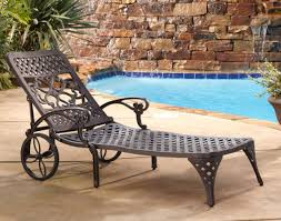 Patio Chaise Lounge Chair by Styles Biscayne Outdoor Chaise Lounge Chair With Wheels