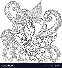 coloring pages henna art coloring pages for adults henna mehndi doodles vector image