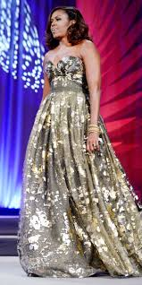 michelle obama glows in gilded naeem khan at a d c awards dinner