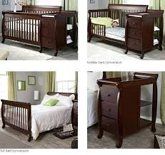 Sorelle Tuscany 4 In 1 Convertible Crib And Changer Combo 4 In 1 Convertible Crib With Changing Table Thelt Co