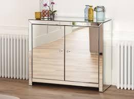 White Sideboard With Glass Doors Mirror Sassari Mirrored Sideboard Venetian Glass Furniture For