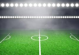 how tall are football stadium lights soccer football stadium with lights stock illustration