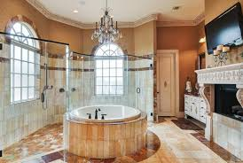 Crystal Chandelier For Bathroom Round Tub And Elegant Crystal Chandelier For Luxury Master