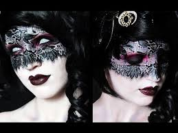 blind seer makeup tutorial lace mask youtube