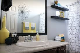 modern small bathroom decorations with white wall paint also black