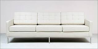 Knoll Sofa Replica by Florence Knoll Sofa Cream White Leather