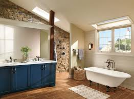 bathroom design layout surrounded by natural stone tiles
