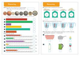 measuring maths worksheets free early years u0026 primary teaching