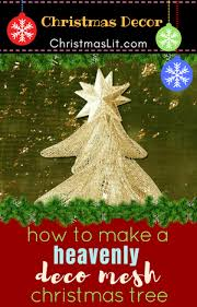 how to make christmas how to make a marvelous deco mesh christmas tree with a tomato cage