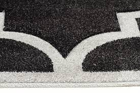 buy icon large modern trellis rug charcoal at cheapest rugs online