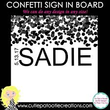 bar mitzvah sign in boards black confetti bat mitzvah sign in board choose your color