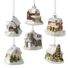 christmas village building white paper barn 12