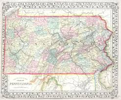 Maps Of Pennsylvania by File 1867 Mitchell Map Of Pennsylvania Geographicus Pa