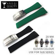 man rubber bracelet images Waterproof rubber watchband stainless steel buckle watch band jpg