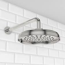 the bath co winchester shower head with curved round wall arm winchester 200mm shower head curved wall arm