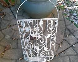 wire wall basket etsy