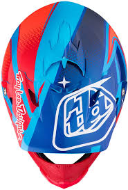 blue motocross helmets troy lee designs mx helmets troy lee designs se3 neptune blue red