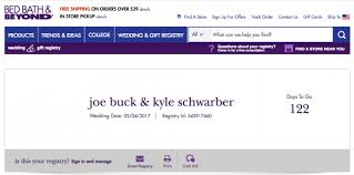 wedding registry store joe buck and kyle schwarber a fan created wedding registry