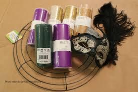 mardi gras material glitter mardi gras mask wreath tutorial