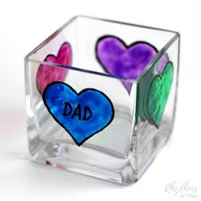 Personalized Keepsake Diy Father U0027s Day Personalized Candle Holder Gift Idea Rhythms Of