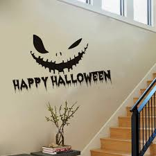 compare prices on halloween wall decor online shopping buy low pvc wall stickers pumpkin smile hollow out diy home decor poster kids rooms vinyl wall decoration