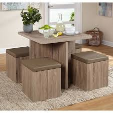 dining table 5 pc small set ottoman storage kids seats apartment