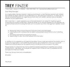 resume cover letter exle general general assistant cover letter sle livecareer