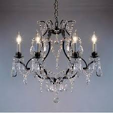 Wire Chandeliers Wrought Iron Crystal Chandelier Chandeliers H19