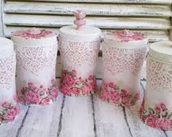 shabby chic canister etsy