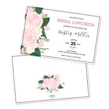 bridal luncheon invitations floral personalized bridal luncheon invitations bug