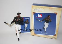 hallmark 2004 barry bonds baseball ornament 9th in the at the