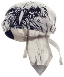 Black American Flag Bandana Eagle Doo Rag Patriotic Bandana Cotton White And Black Head Wrap