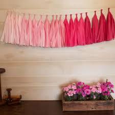 pink garland patterned paper tassel garland colored paper tassel garland