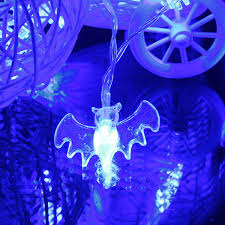Purple Led Halloween Lights 20 Blue Led Bats Light Halloween Party Decration Lights At Banggood
