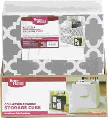 better homes and gardens collapsible fabric storage cube gray