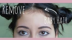 how to manage a ver low hairline how i remove my baby hair my hair routine youtube