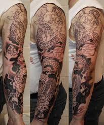 mens half sleeves tattoos japanese flowers and pheonix tattoos on half sleeve all tattoos