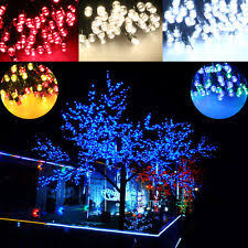 Solar Garden Tree Lights by Solar Powered Christmas Tree Ebay