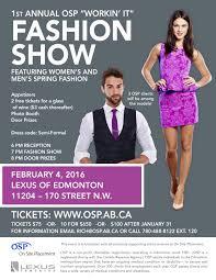 lexus of edmonton 170 street on site placement u0027s 1st annual u201cworkin u0027 it u201d fashion show yeg