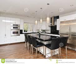modern contemporary white kitchen stock photo image 30205560