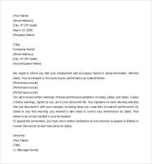 15 job termination letter templates u2013 free sample example format