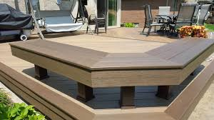 Deck Bench Bracket Outdoor Living How To Build A Low To The Ground Deck Part 2