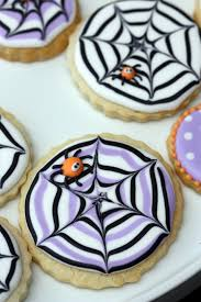 Icing To Decorate Cookies How To Make A Spider Web Decorated Cookie Sweetopia